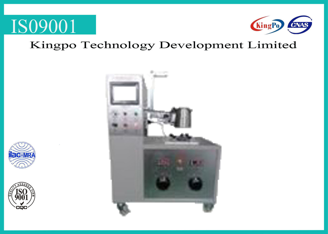 PLC Control Electrical Testing Instruments , Kettle Plug Tester With Touch Screen