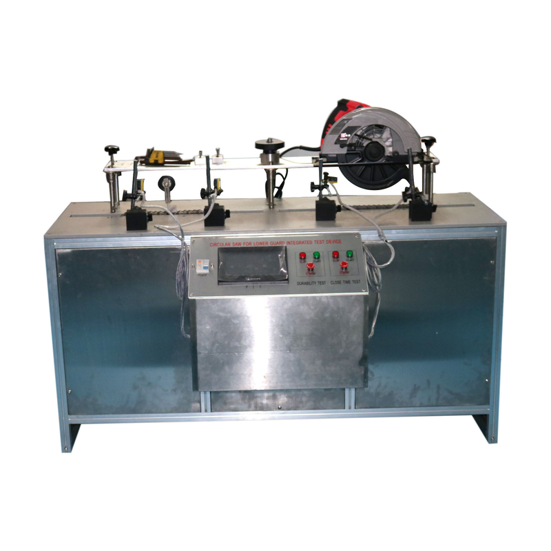 IEC60745-2-5 Lower Guard Durability Test And Close Time Test Equipment With Circular Saw At A 90°Cut